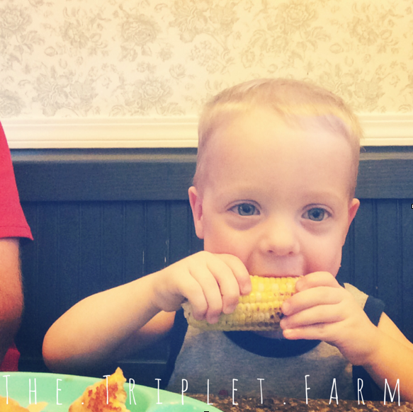 Jase, earing corn on the cob in the summertime.